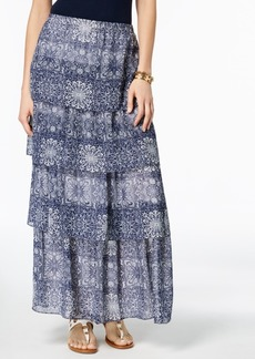 Tommy Hilfiger Tiered Chiffon Maxi Skirt, Created for Macy's