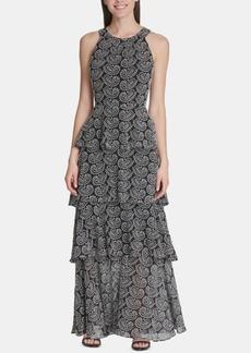 Tommy Hilfiger Tiered Paisley-Print Maxi Dress