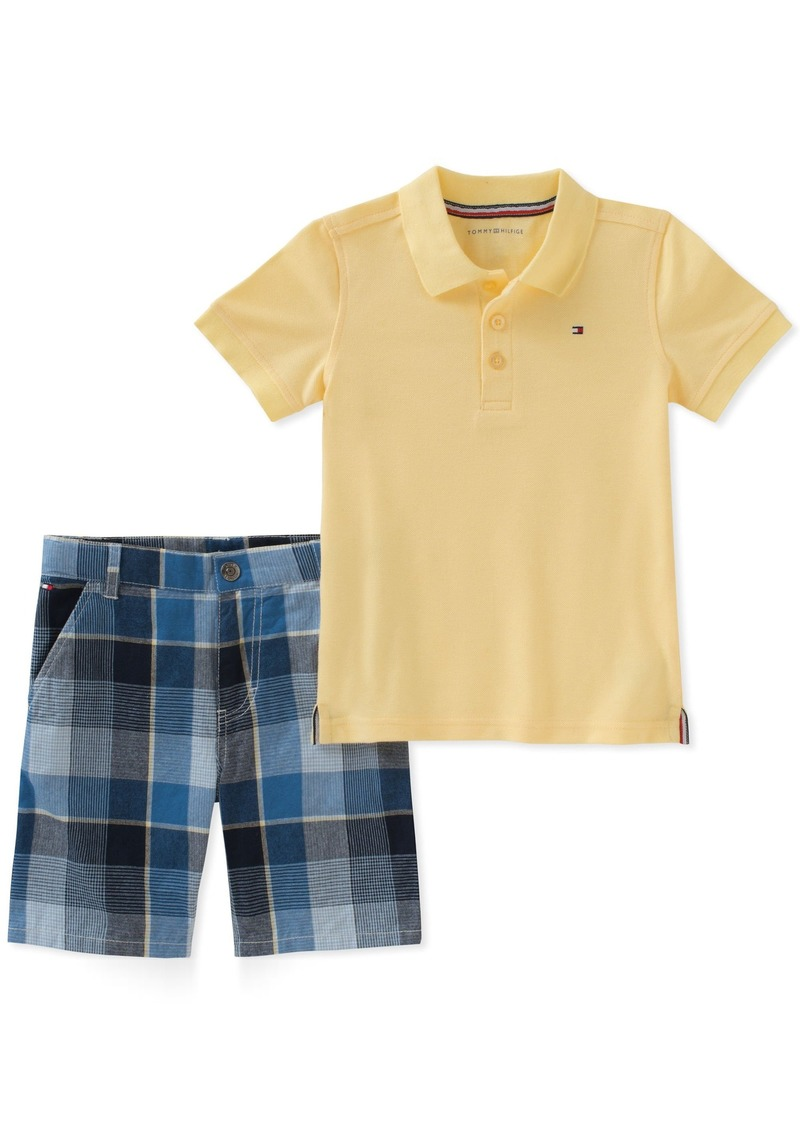 afd1b6d04 Tommy Hilfiger Tommy Hilfiger Boys' Toddler 2 Pieces Polo Shorts Set ...