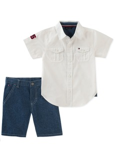 Tommy Hilfiger Toddler Boys' 2 Pieces Shirt Shorts Set