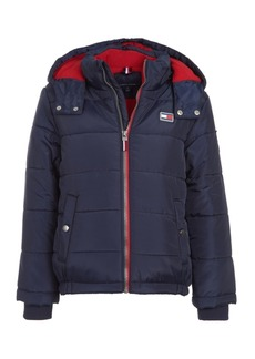 Tommy Hilfiger Toddler Boys Detachable Hood Puffer Jacket