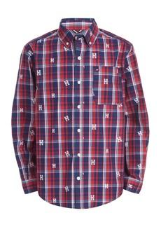 Tommy Hilfiger Toddler Boys Dixon Yarn-Dyed Plaid Logo-Print Shirt