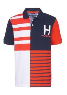 Tommy Hilfiger Toddler Boys Evan Colorblocked Stripe Logo Pique Polo Shirt