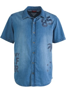 Tommy Hilfiger Toddler Boys Larry Logo-Print Denim Shirt