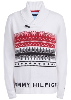 Tommy Hilfiger Toddler Boys Paul Fair Isle Shawl-Collar Sweater