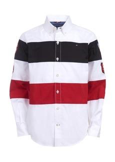Tommy Hilfiger Toddler Boys Philip Colorblocked Stripe Patch Poplin Shirt