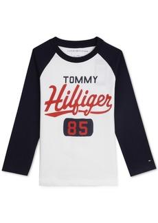 Tommy Hilfiger Little Boys Raglan Graphic Shirt