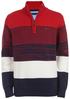 Tommy Hilfiger Toddler Boys Ryan Colorblocked Stripe 1/4-Zip Sweater