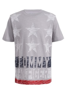 Tommy Hilfiger Toddler Boys Textured Star & Stripe Logo T-Shirt