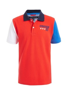 Tommy Hilfiger Toddler Boys Tito Colorblocked Logo-Print Pique Polo Shirt