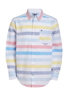Tommy Hilfiger Toddler Boys Xander Stretch Stripe Shirt