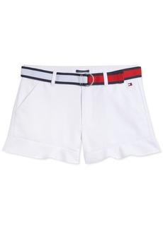 Tommy Hilfiger Toddler Girls Belted Ruffled Shorts