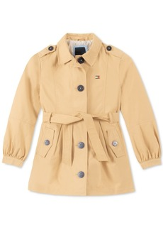 Tommy Hilfiger Toddler Girls Belted Trench Coat