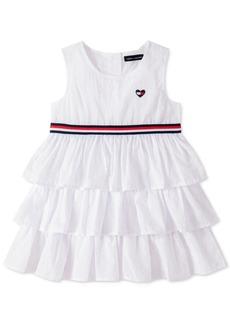 Tommy Hilfiger Little Girls Cotton Ruffled Dress