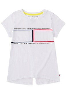 Tommy Hilfiger Little Girls Cotton Split-Back Flag T-Shirt