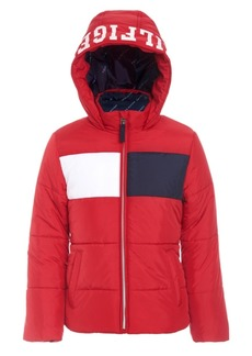 Tommy Hilfiger Toddler Girls Flag Puffer Jacket