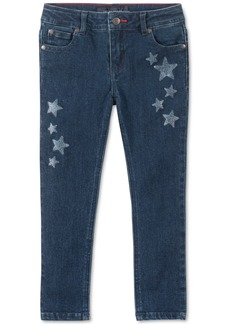 Tommy Hilfiger Little Girls Glitter-Star Skinny Jeans
