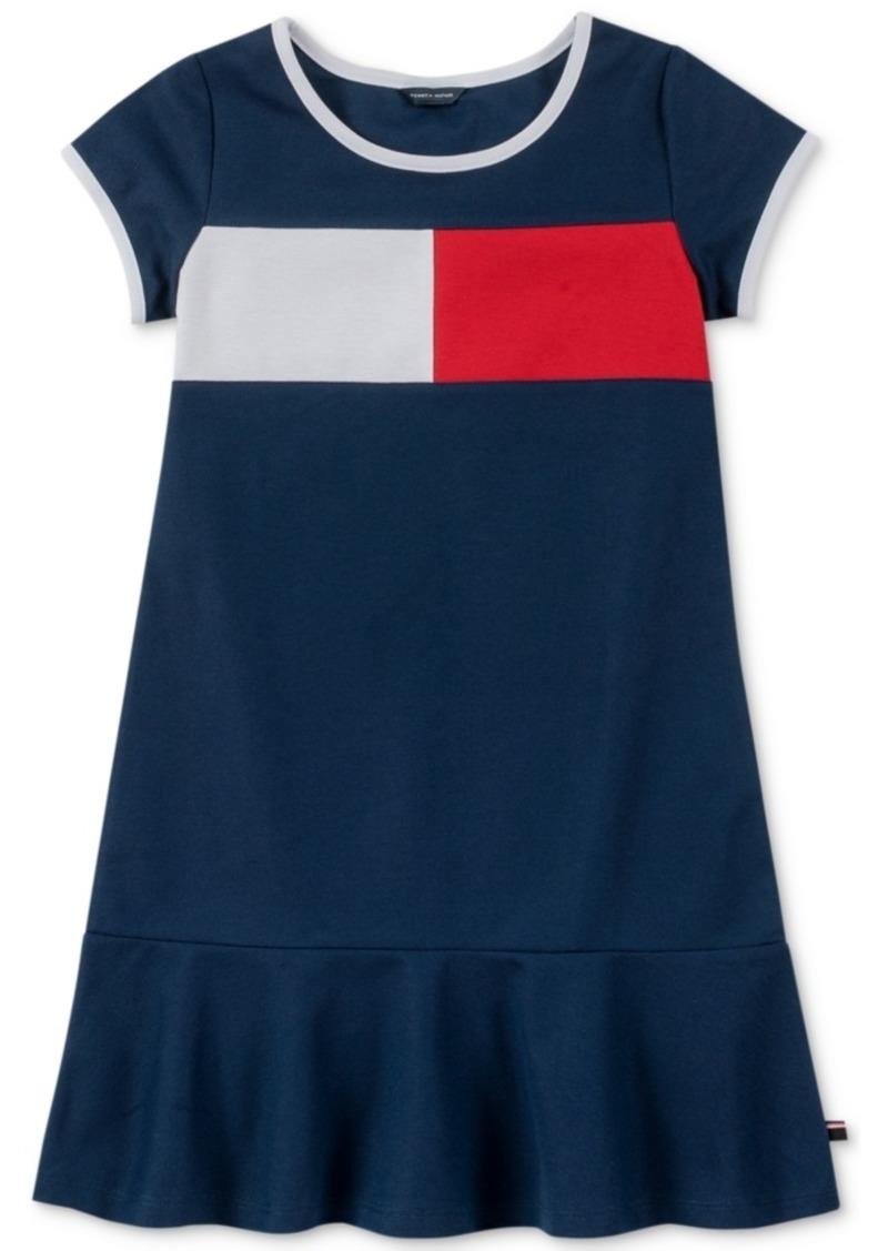 Tommy Hilfiger Little Girls Pique Logo Dress