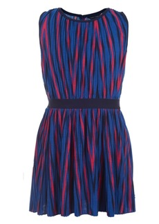 Tommy Hilfiger Little Girls Pleated Striped Dress