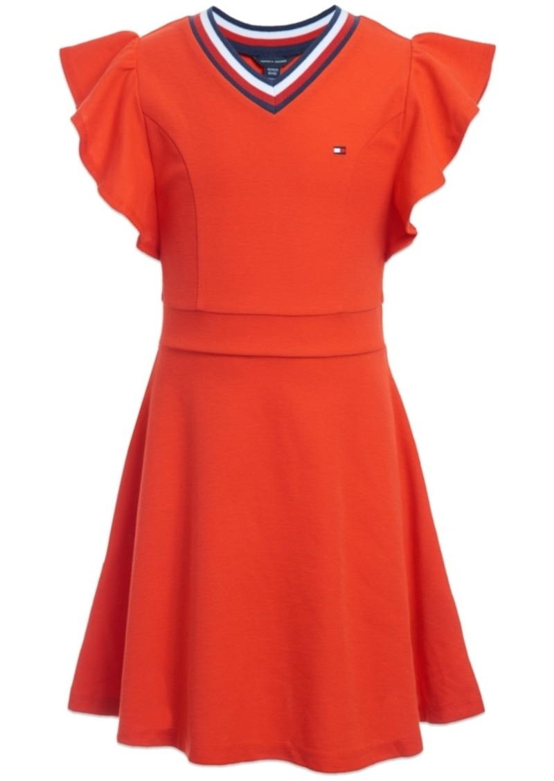 Tommy Hilfiger Little Girls Ruffle-Sleeve Dress