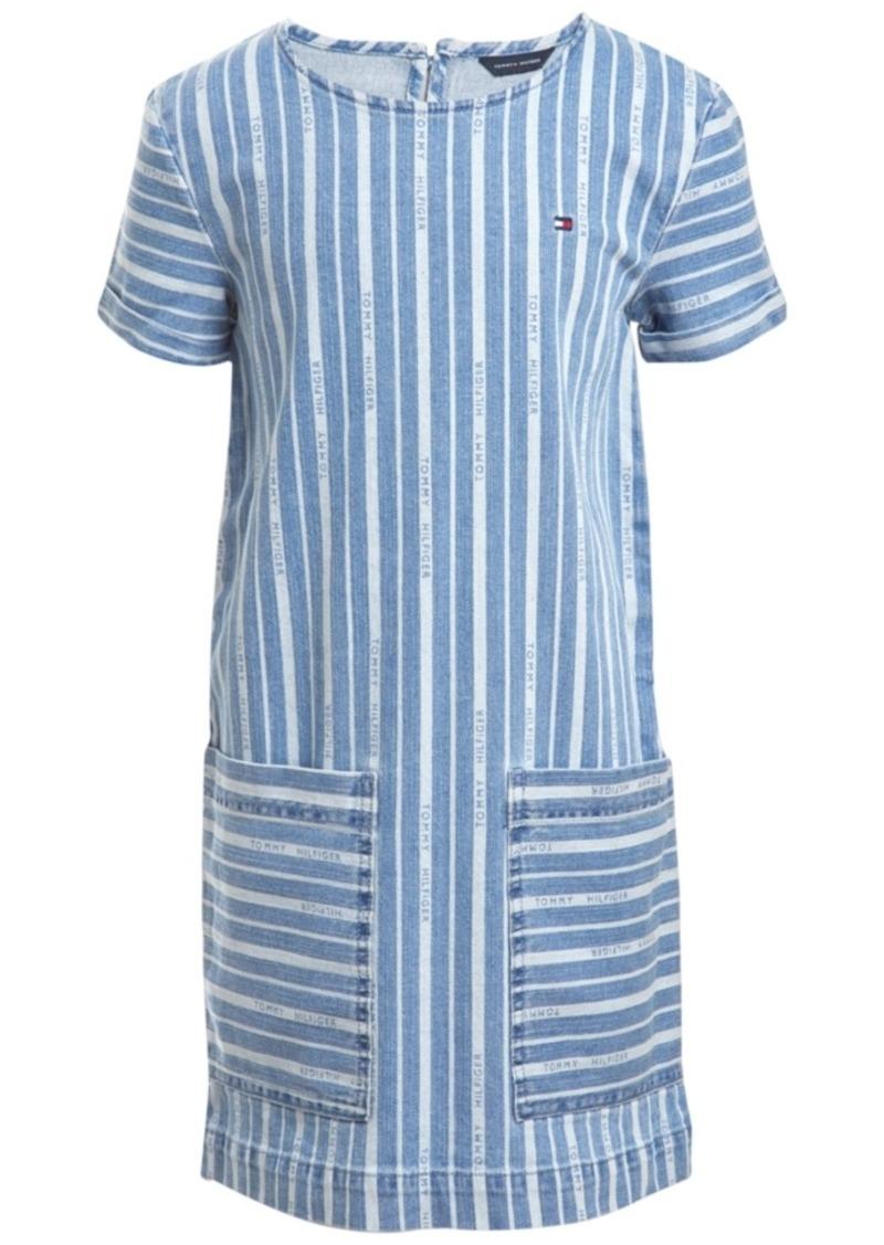 Tommy Hilfiger Little Girls Striped Denim Dress