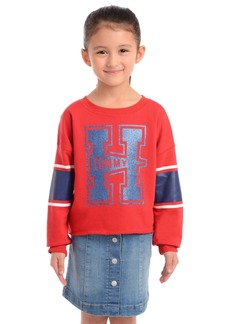 Tommy Hilfiger Little Girls Tommy-Print Sweatshirt