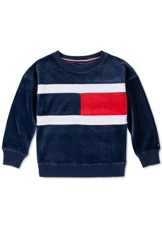Tommy Hilfiger Toddler Girls Velour Flag Sweatshirt