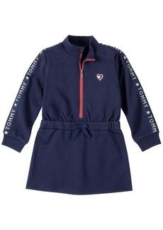 Tommy Hilfiger Little Girls Zip Front Fleece Dress