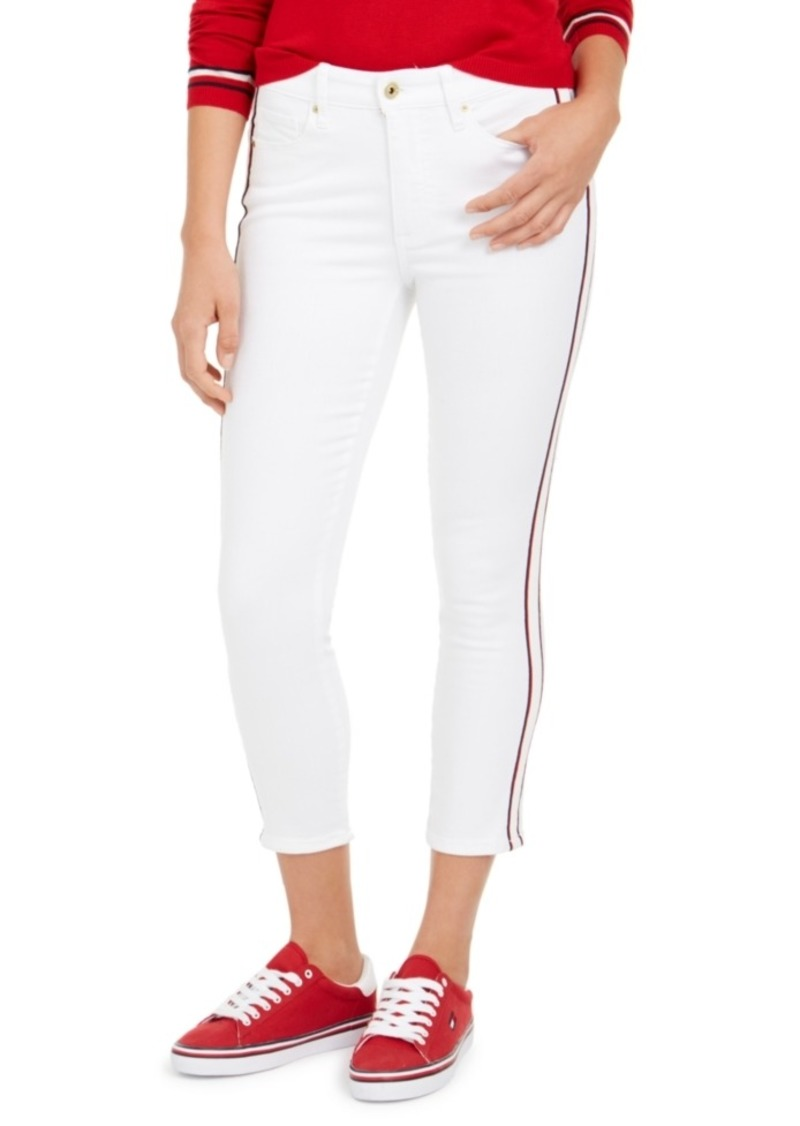Tommy Hilfiger Tribeca Side-Stripe Ankle Jeans
