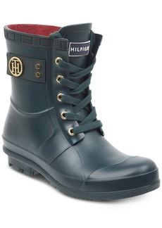 39dfddef8949e0 Tommy Hilfiger Trineti Lace-Up Rain Boots Women s Shoes