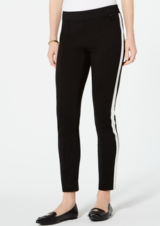 Tommy Hilfiger Tuxedo Stripe Ponte-Knit Pants, Created for Macy's