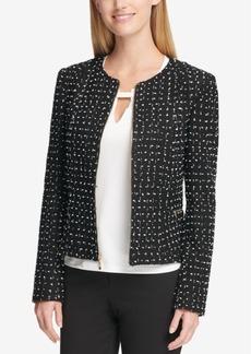 Tommy Hilfiger Tweed Peplum Jacket
