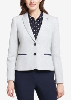 Tommy Hilfiger Two-Button Sweatshirt Blazer