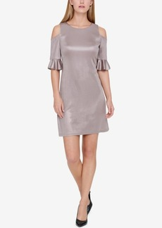 Tommy Hilfiger Ruffled Cold-Shoulder Dress