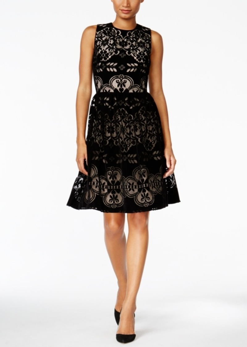 0b169072fdd89 Tommy Hilfiger Velvet Lace Fit & Flare Dress, A Macy's Exclusive Style