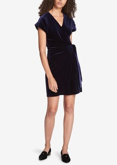 Tommy Hilfiger Velvet Wrap Dress, Created for Macy's