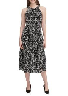 Tommy Hilfiger Vine Embroidered Halter Dress