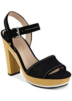 Tommy Hilfiger Weslee Perforated Platform Sandals Women's Shoes