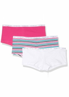 Tommy Hilfiger Women's 3pk Cotton Logoband Boyshort  S