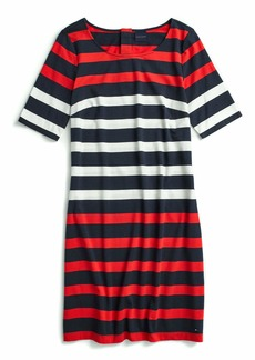 Tommy Hilfiger Women's Adaptive Bold Stripe Dress with Magnetic Buttons