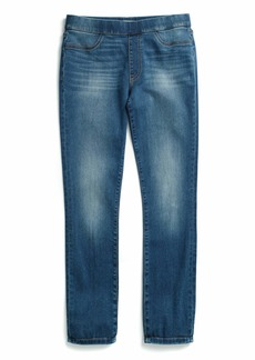 Tommy Hilfiger Women's Adaptive Jegging Jeans with Adjustable Hems and Elastic Waist Medium wash
