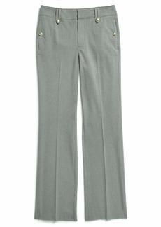 Tommy Hilfiger Women's Adaptive Pants Wide Leg with Adjustable Hems and Waist medium grey heather