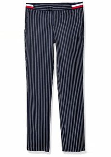 Tommy Hilfiger Women's Adaptive Pinstripe Pant with Velcro Closure and Adjustable Waist