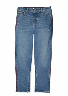 Tommy Hilfiger Women's Adaptive Straight Fit Jean with Velcro Brand Closure and Magnetic Fly Light WASH