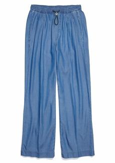 Tommy Hilfiger Women's Adaptive Wide Leg Jeans with Elastic Waist Medium WASH