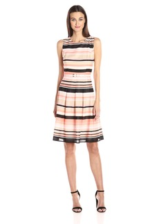Tommy Hilfiger Women's Amazon Stripe Print Fit and Flare Dress
