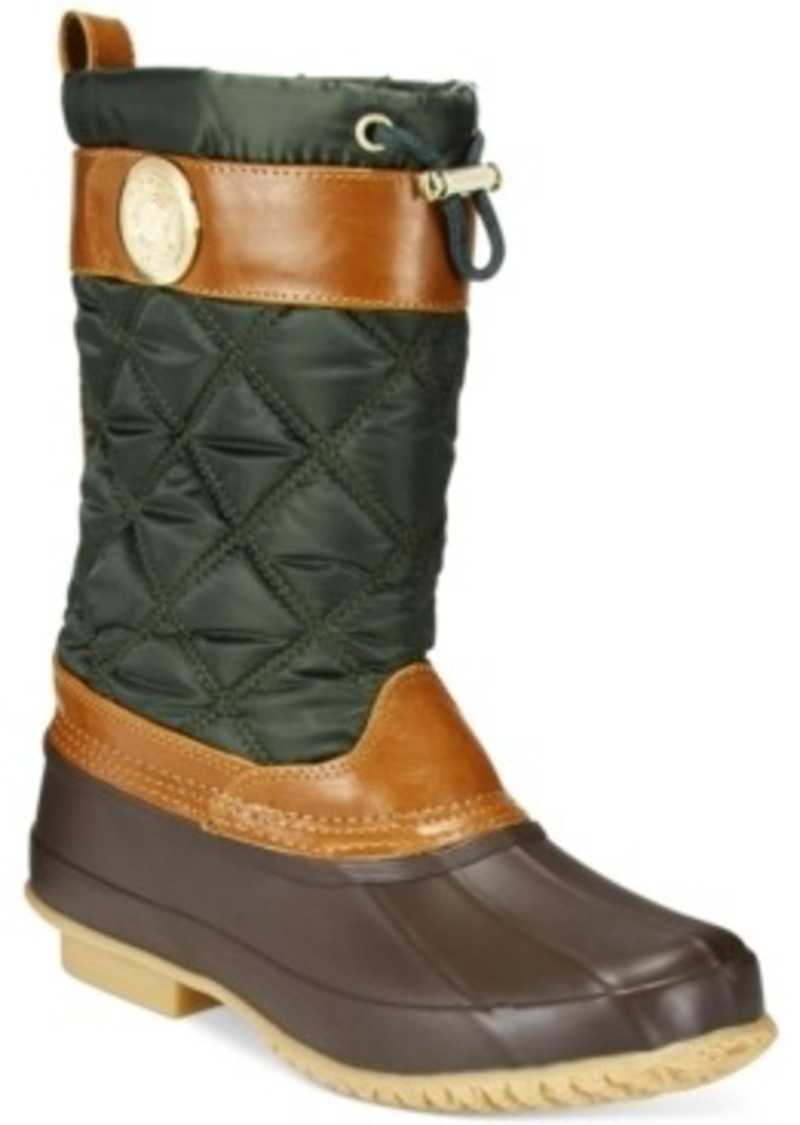 tommy hilfiger tommy hilfiger women 39 s arcadia duck boots. Black Bedroom Furniture Sets. Home Design Ideas