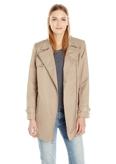 Tommy Hilfiger Women's Aysmmetrical Non Belted Trench  XS