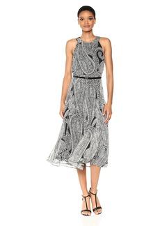 Tommy Hilfiger Women's Belted Chiffon Midi Dress
