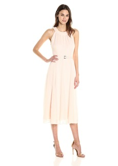 Tommy Hilfiger Women's Belted Long Midi Dress